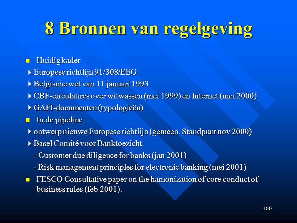 8 Bronnen van regelgeving