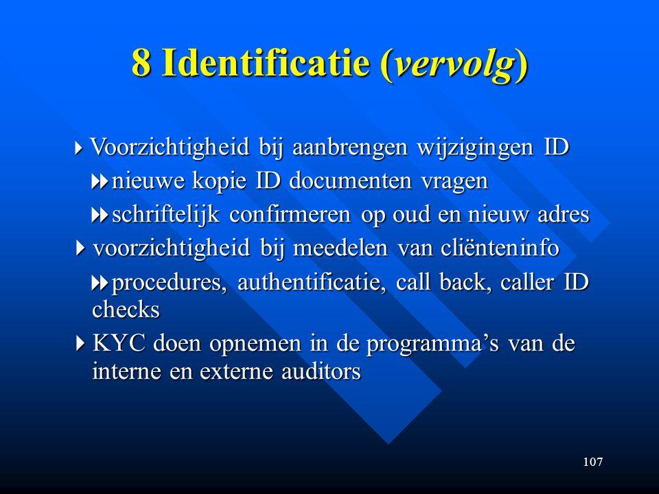 8 Identificatie (vervolg)