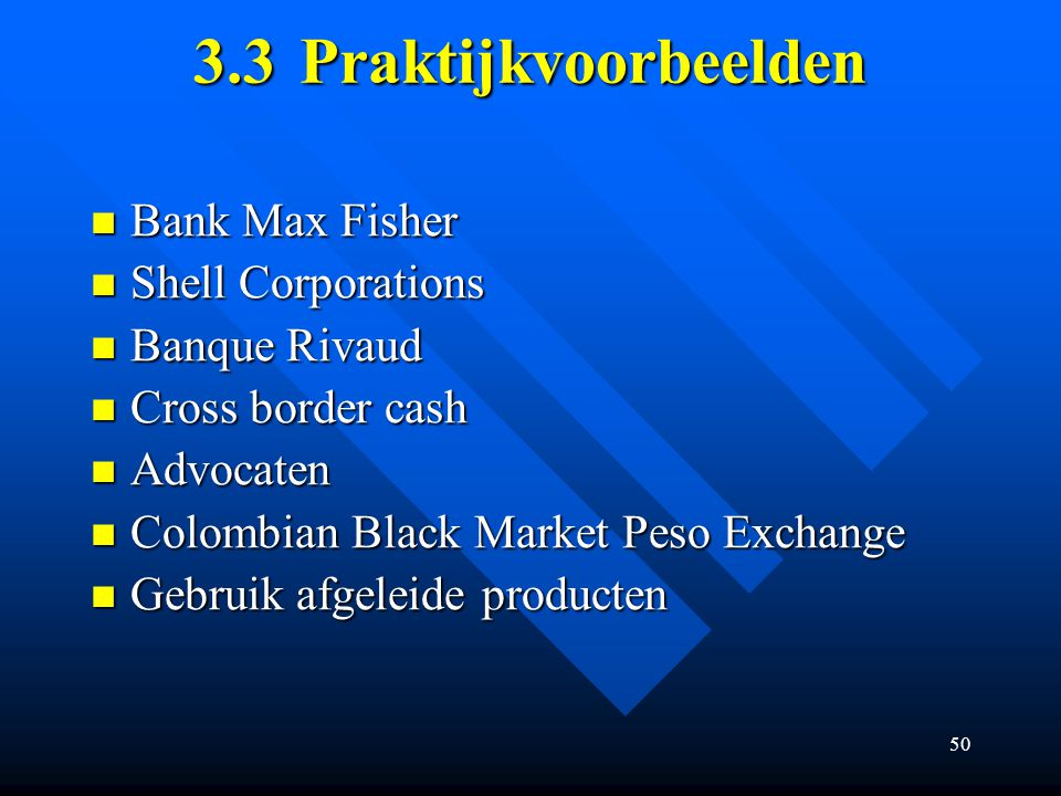 3.3 Praktijkvoorbeelden Bank Max Fisher Shell Corporations