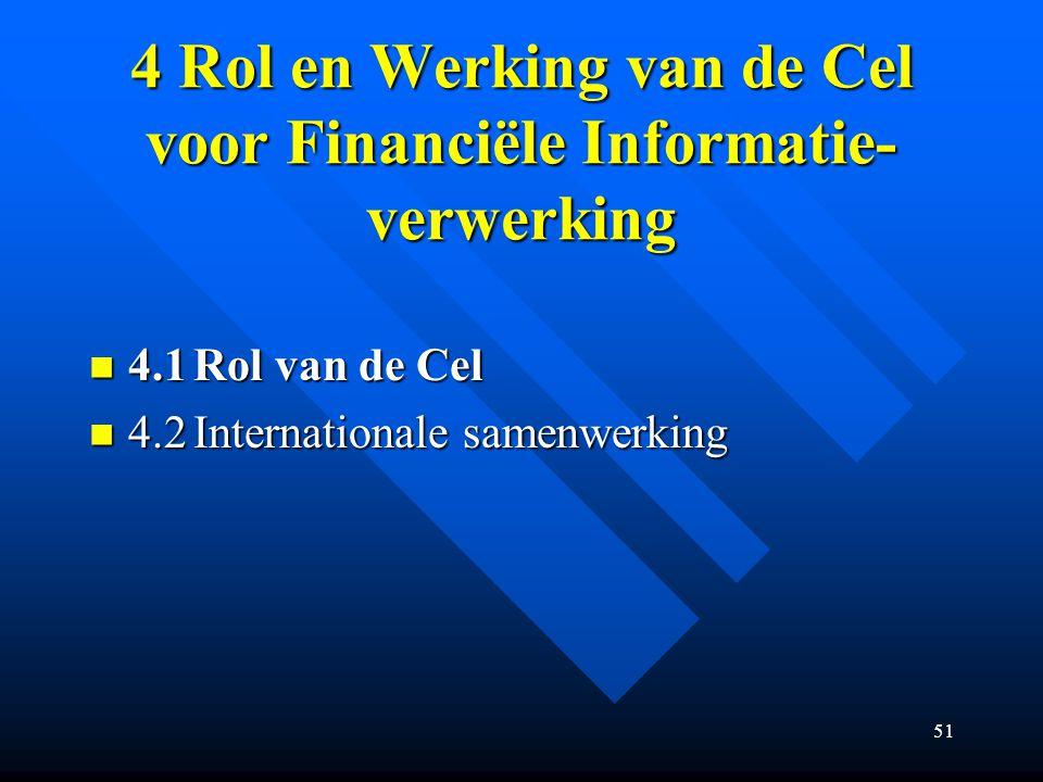 4 Rol en Werking van de Cel voor Financiële Informatie-verwerking