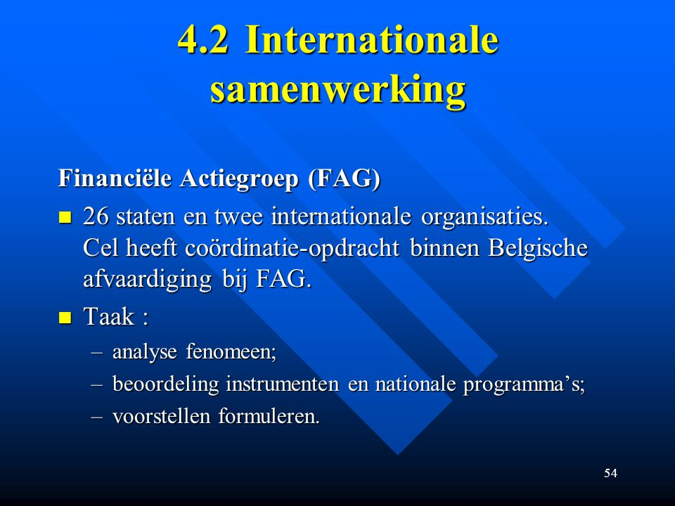 4.2 Internationale samenwerking