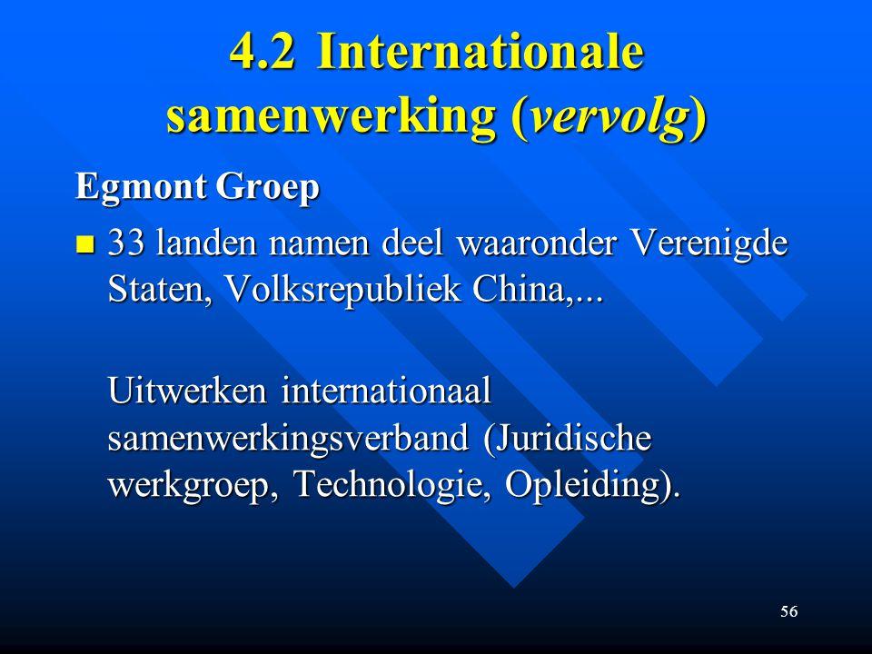 4.2 Internationale samenwerking (vervolg)