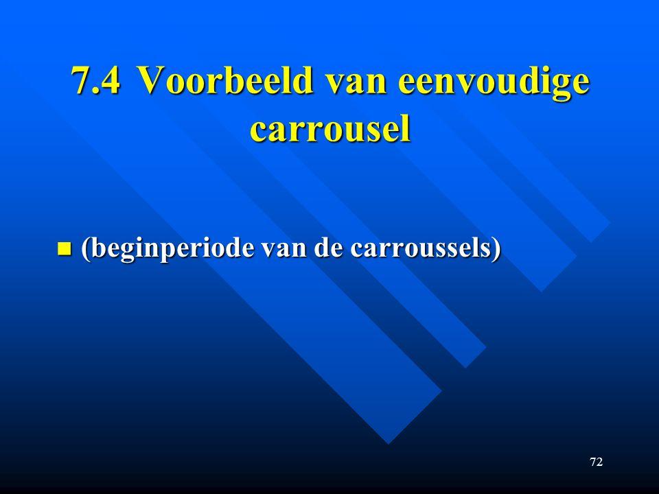 7.4 Voorbeeld van eenvoudige carrousel