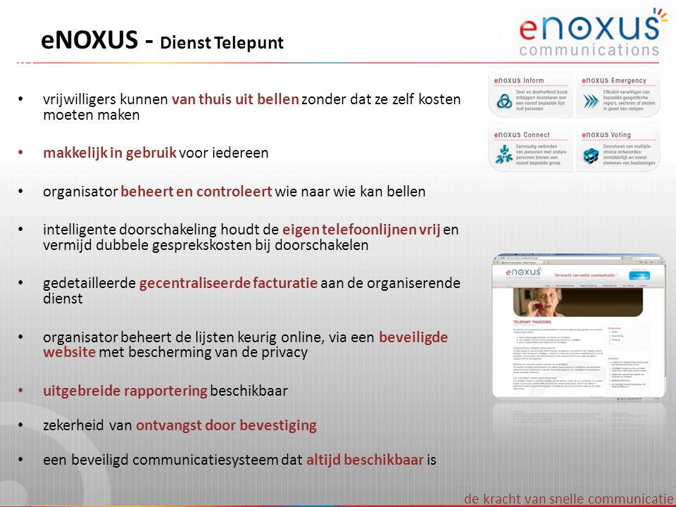 eNOXUS - Dienst Telepunt