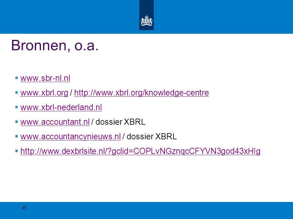 Bronnen, o.a. www.sbr-nl.nl