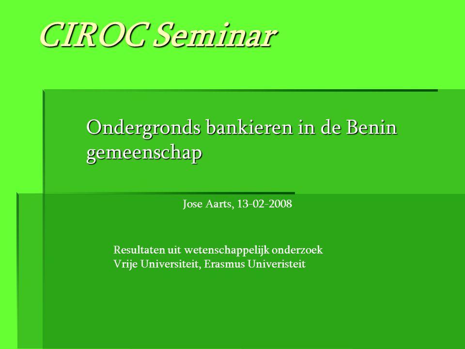 Ondergronds bankieren in de Benin gemeenschap