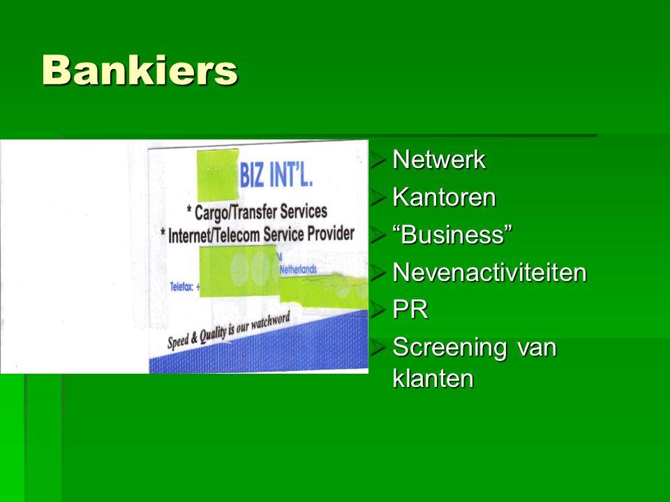 Bankiers Netwerk Kantoren Business Nevenactiviteiten PR
