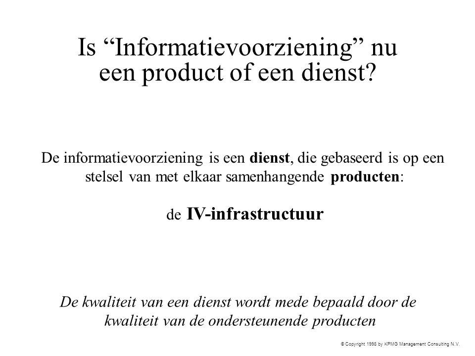Is Informatievoorziening nu een product of een dienst