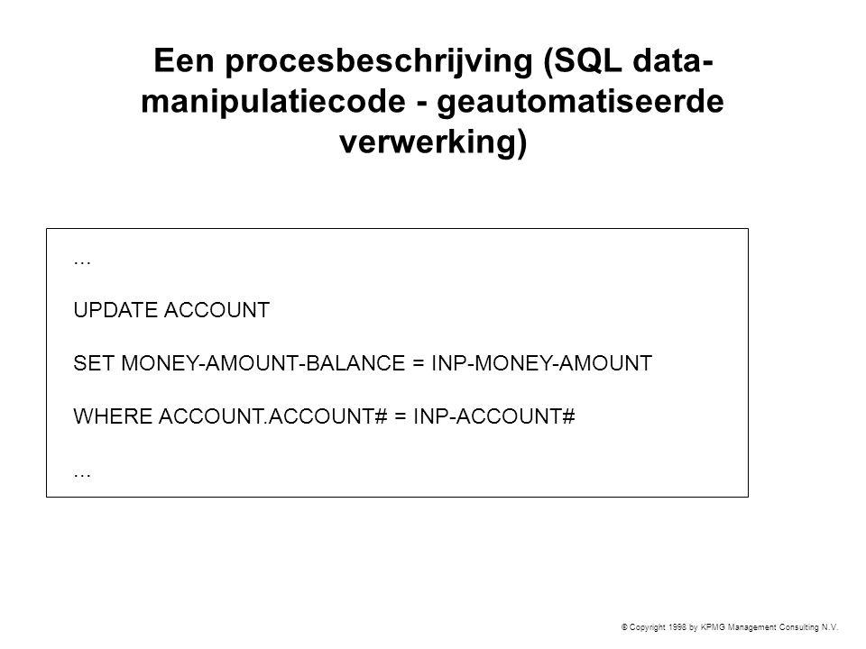 Een procesbeschrijving (SQL data-manipulatiecode - geautomatiseerde verwerking)