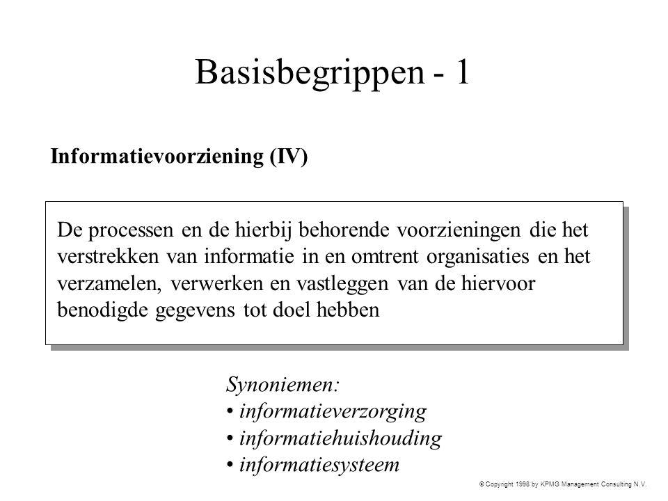 Basisbegrippen - 1 Informatievoorziening (IV)