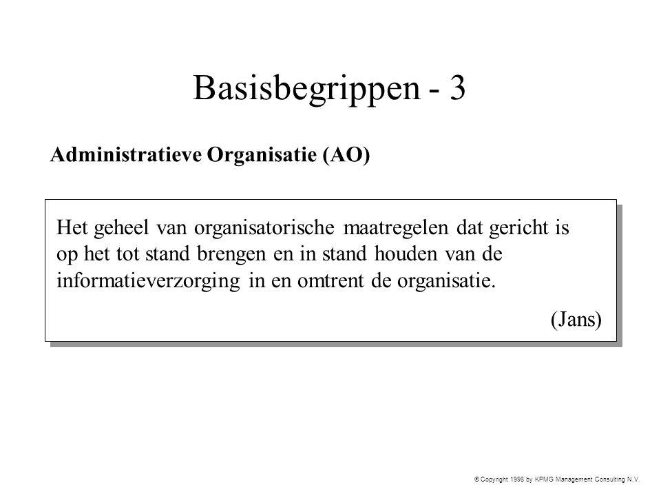 Basisbegrippen - 3 Administratieve Organisatie (AO)