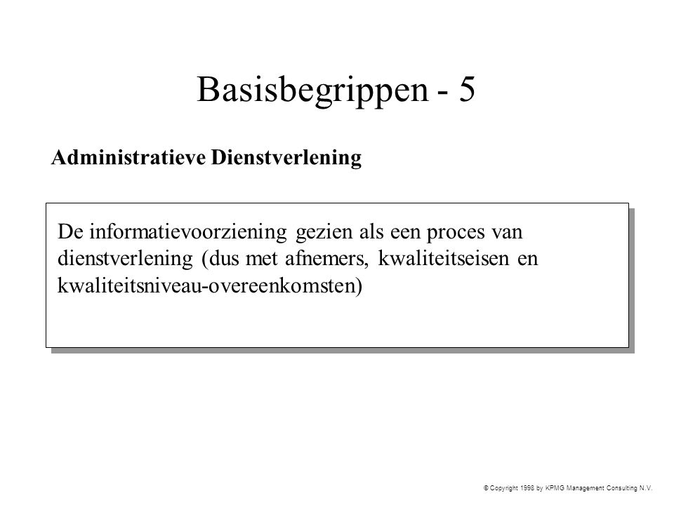 Basisbegrippen - 5 Administratieve Dienstverlening