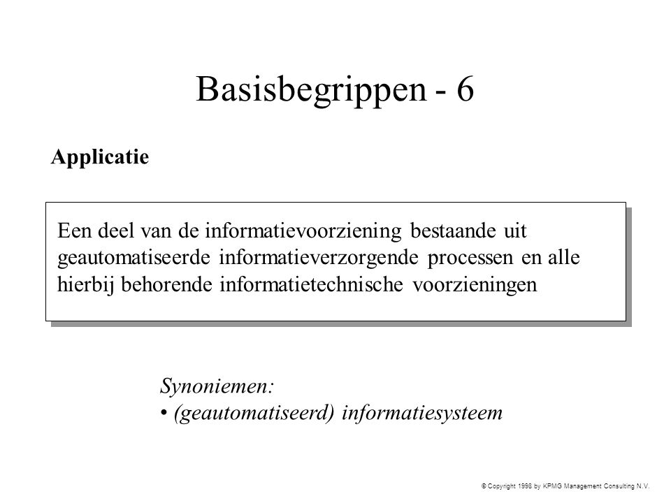Basisbegrippen - 6 Applicatie