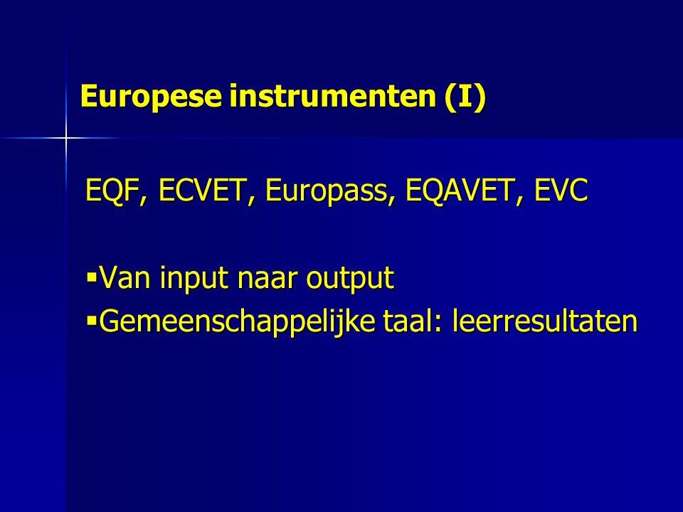 Europese instrumenten (I)