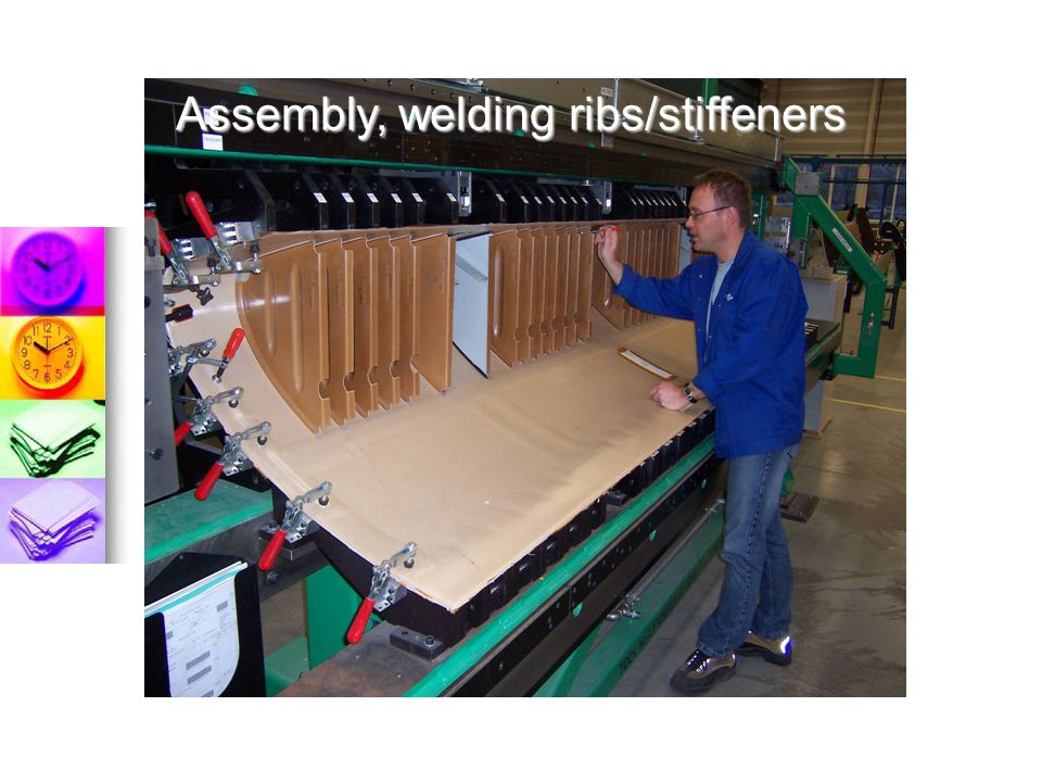 Assembly, welding ribs/stiffeners