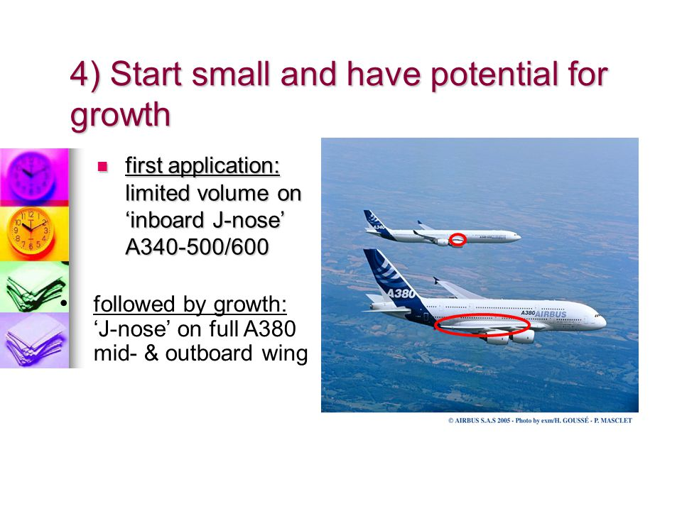 4) Start small and have potential for growth