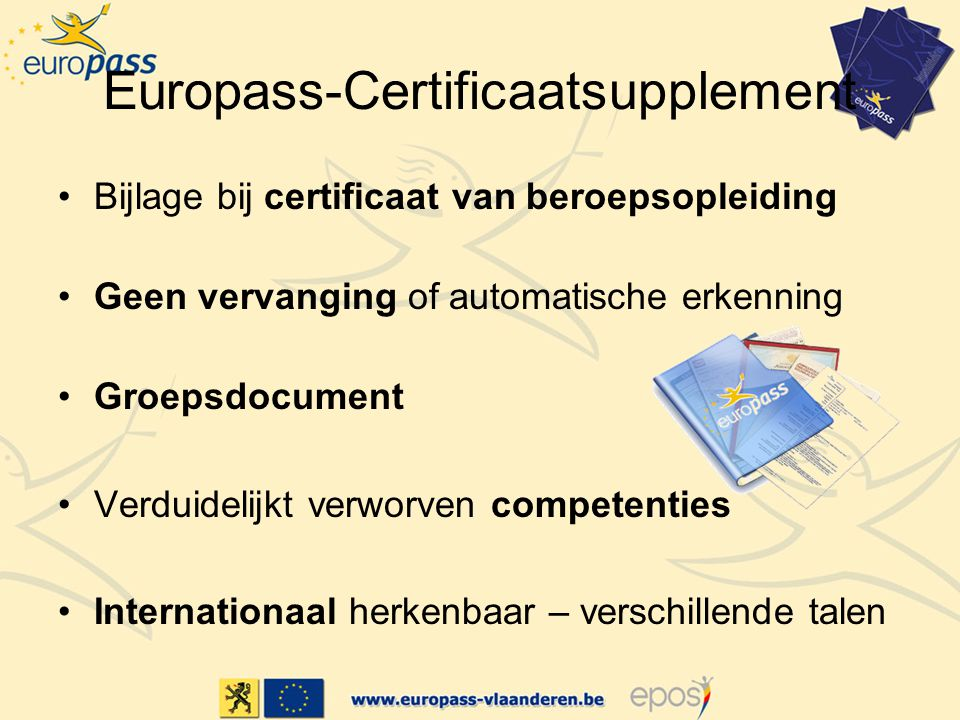 Europass-Certificaatsupplement