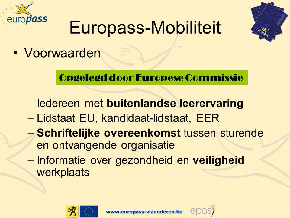 Europass-Mobiliteit Voorwaarden Iedereen met buitenlandse leerervaring