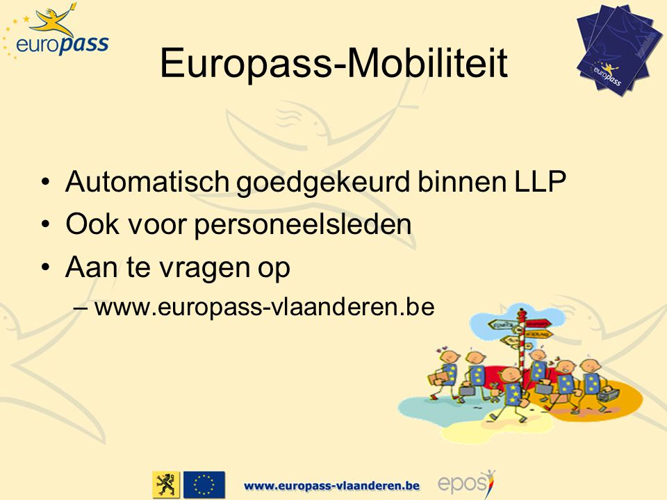 Europass-Mobiliteit Automatisch goedgekeurd binnen LLP