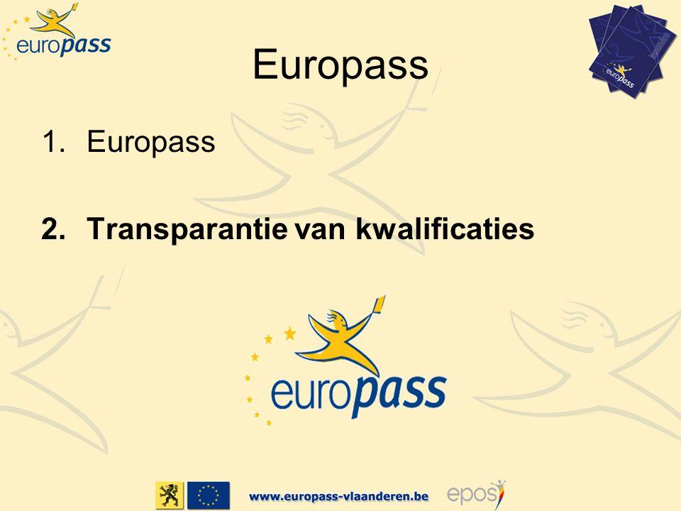 Europass Europass Transparantie van kwalificaties