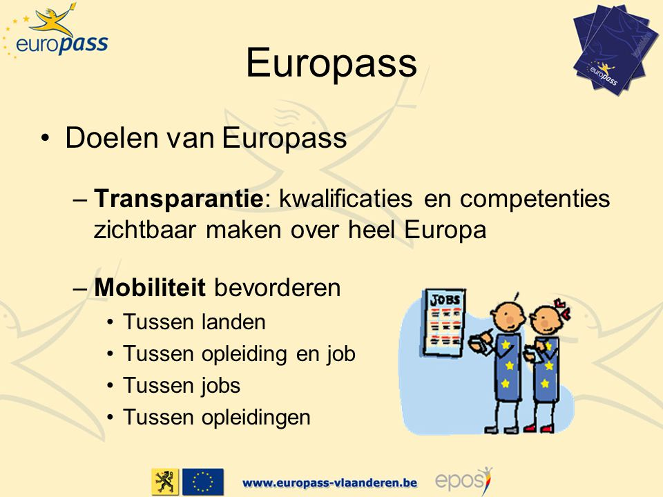 Europass Doelen van Europass
