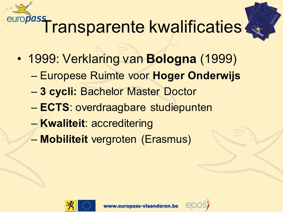Transparente kwalificaties