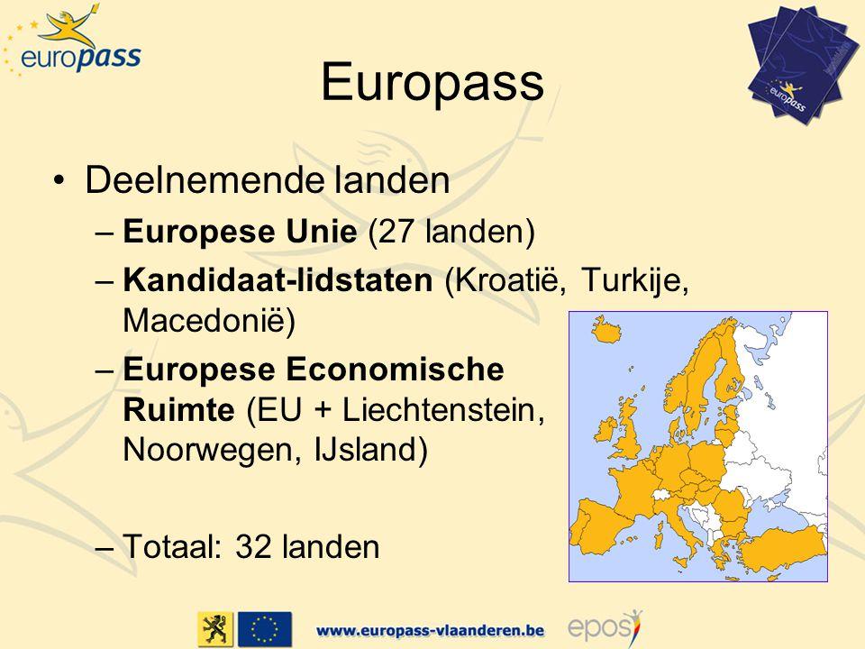 Europass Deelnemende landen Europese Unie (27 landen)