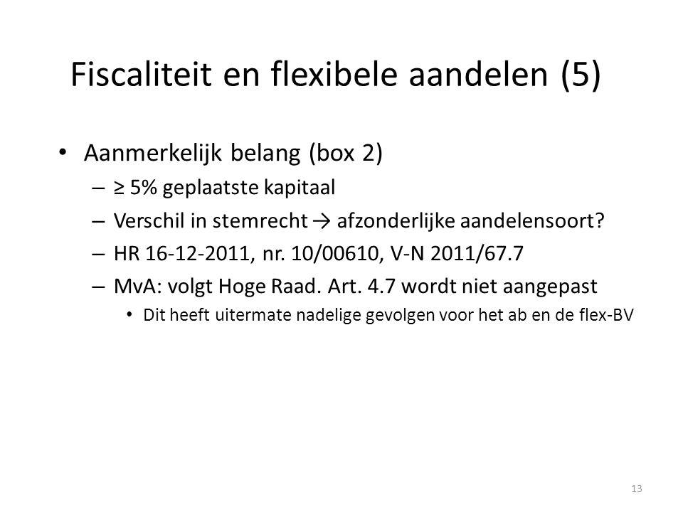 Fiscaliteit en flexibele aandelen (5)