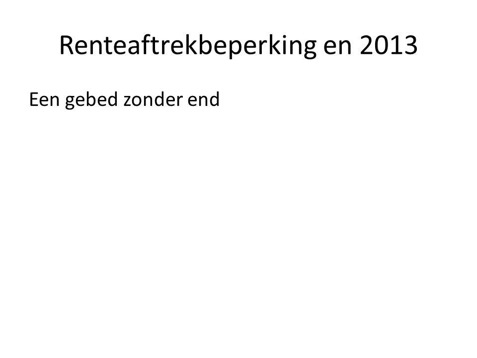 Renteaftrekbeperking en 2013