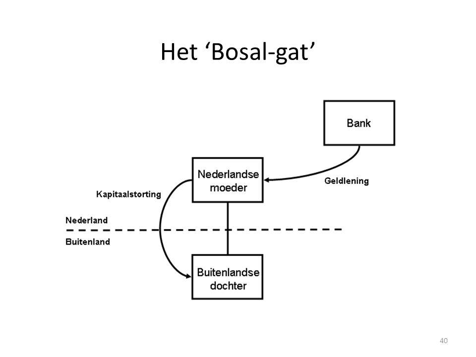 Het 'Bosal-gat' Dat het Bosal-leuk zou bestaan, blijkt niet uit het CBS-rapport.