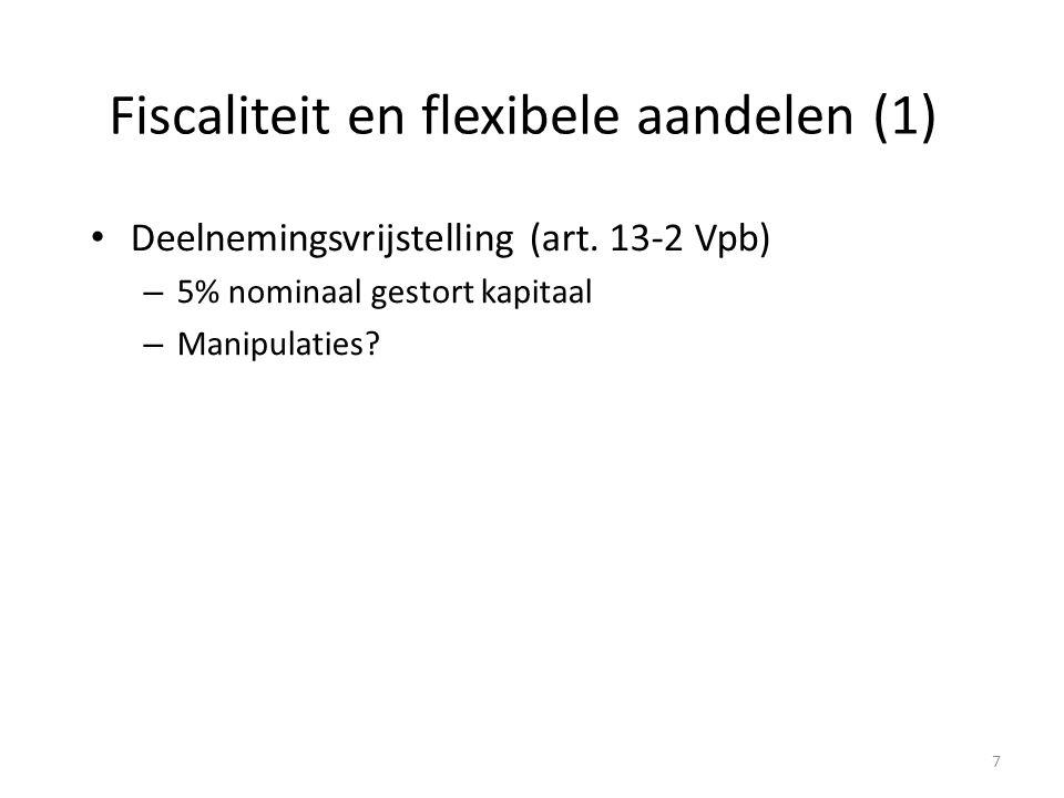 Fiscaliteit en flexibele aandelen (1)