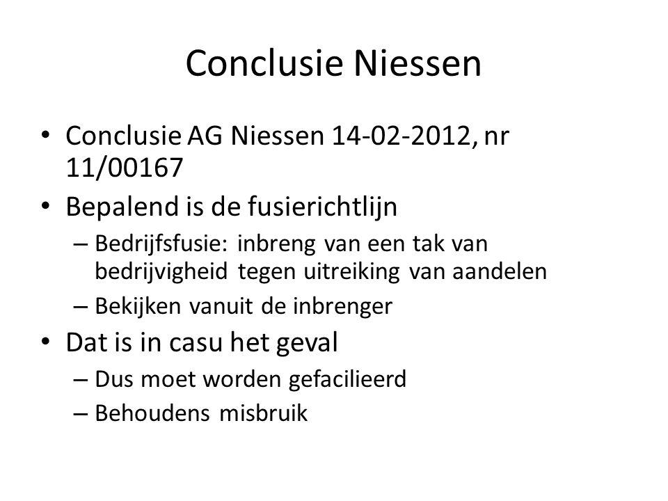 Conclusie Niessen Conclusie AG Niessen 14-02-2012, nr 11/00167
