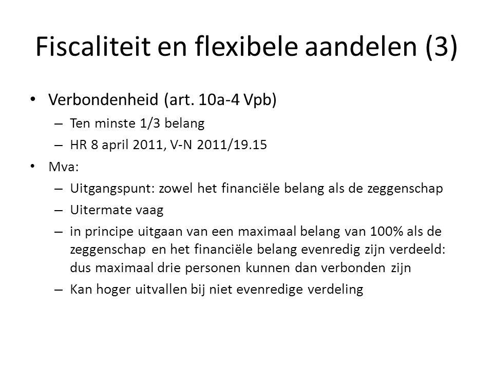 Fiscaliteit en flexibele aandelen (3)