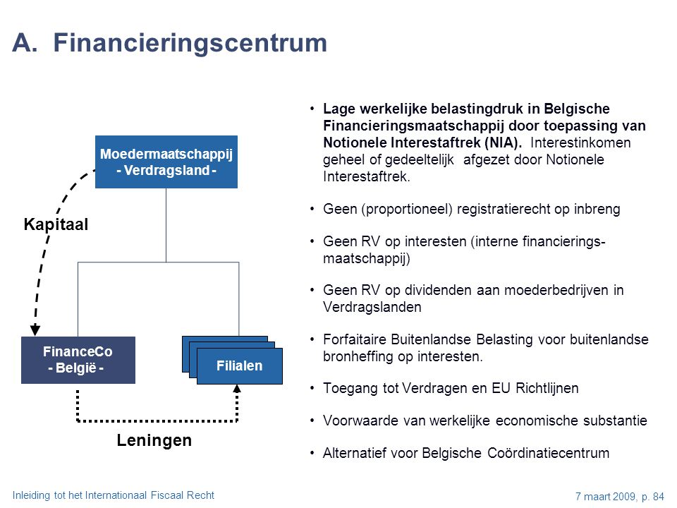 A. Financieringscentrum