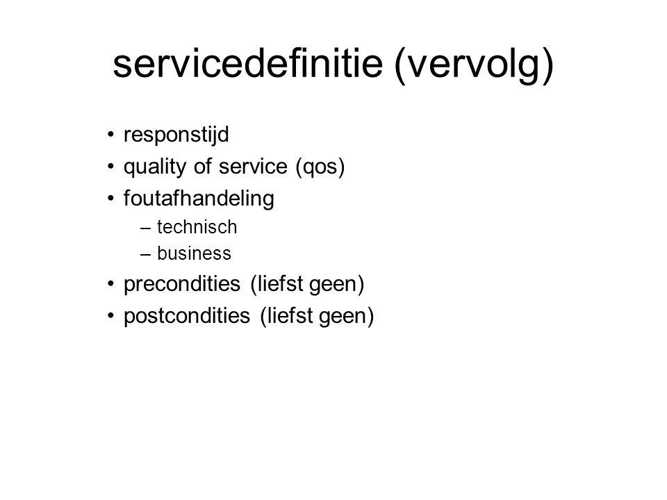 servicedefinitie (vervolg)