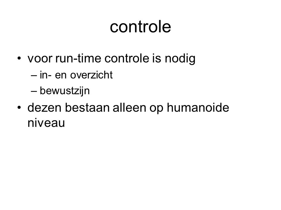 controle voor run-time controle is nodig