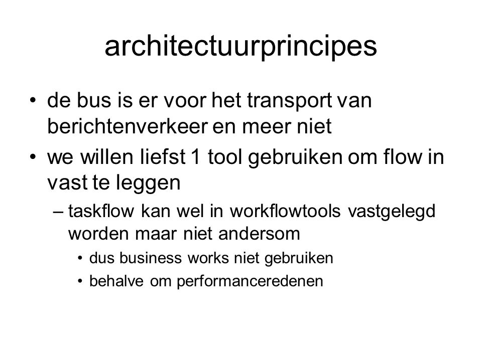 architectuurprincipes