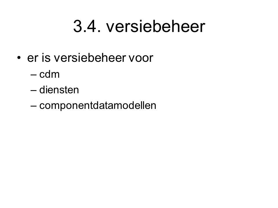 3.4. versiebeheer er is versiebeheer voor cdm diensten