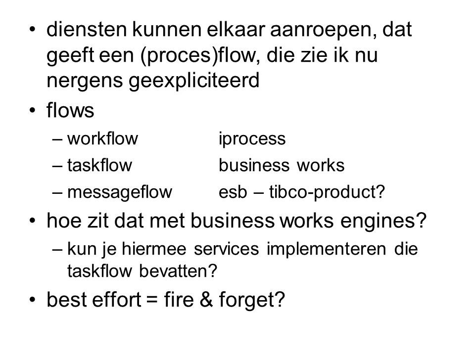 hoe zit dat met business works engines