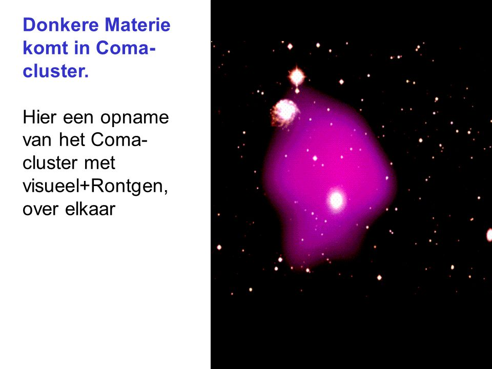 Donkere Materie komt in Coma-cluster.