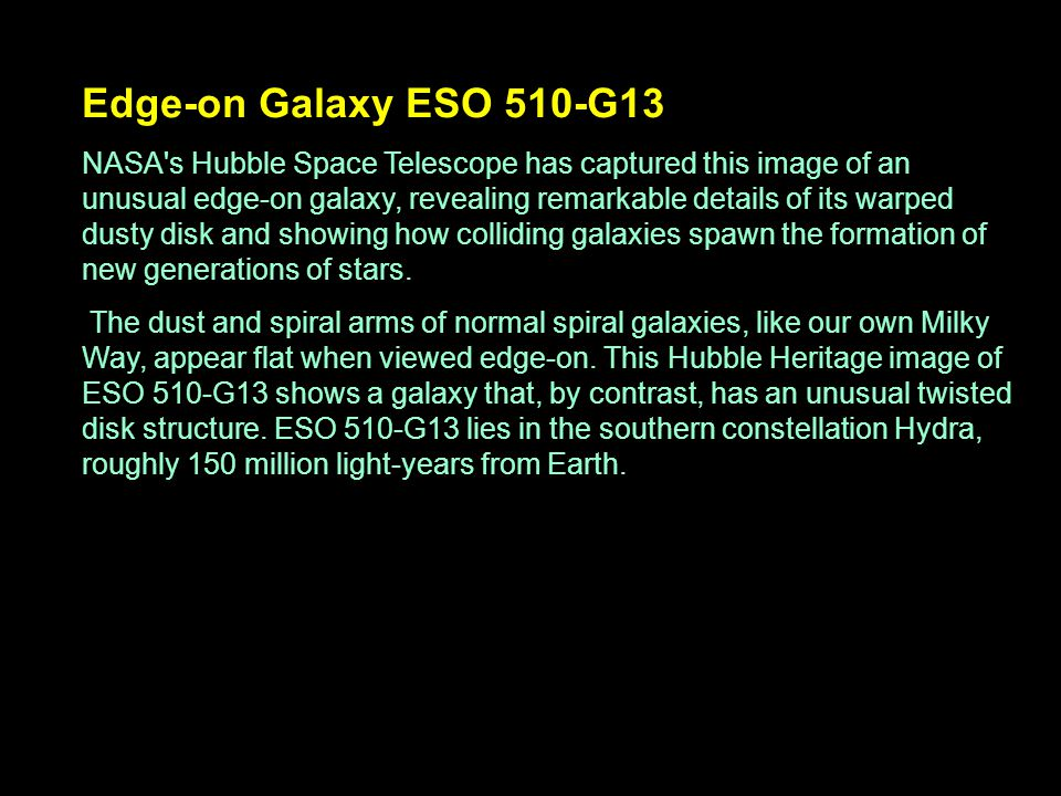 Edge-on Galaxy ESO 510-G13