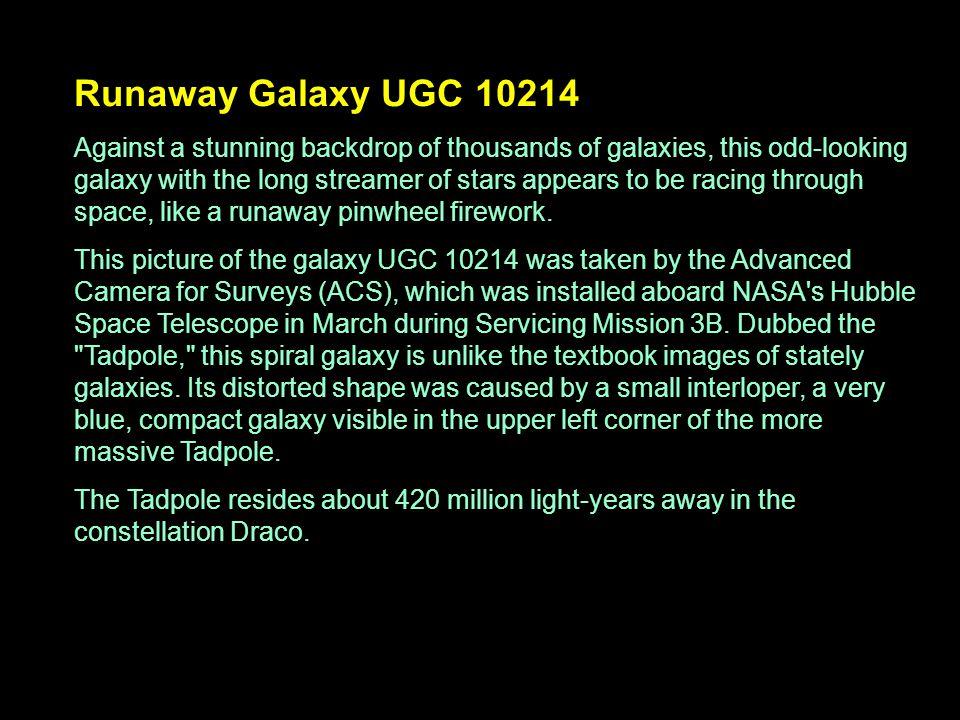 Runaway Galaxy UGC 10214