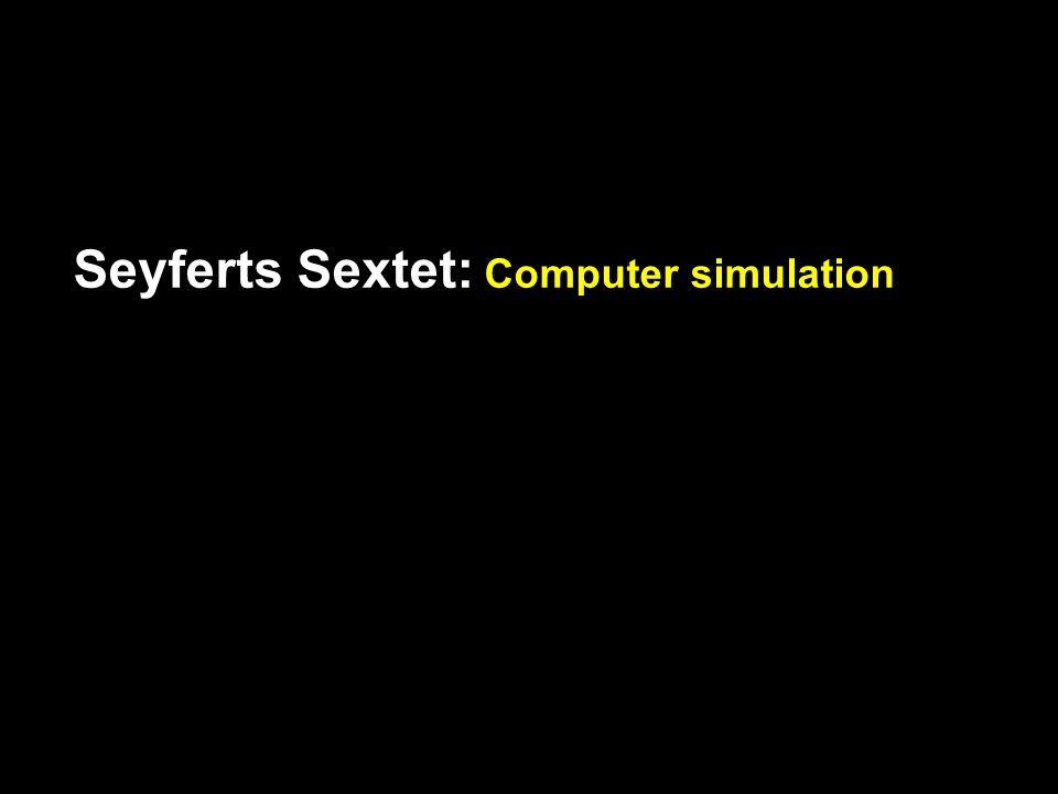 Seyferts Sextet: Computer simulation