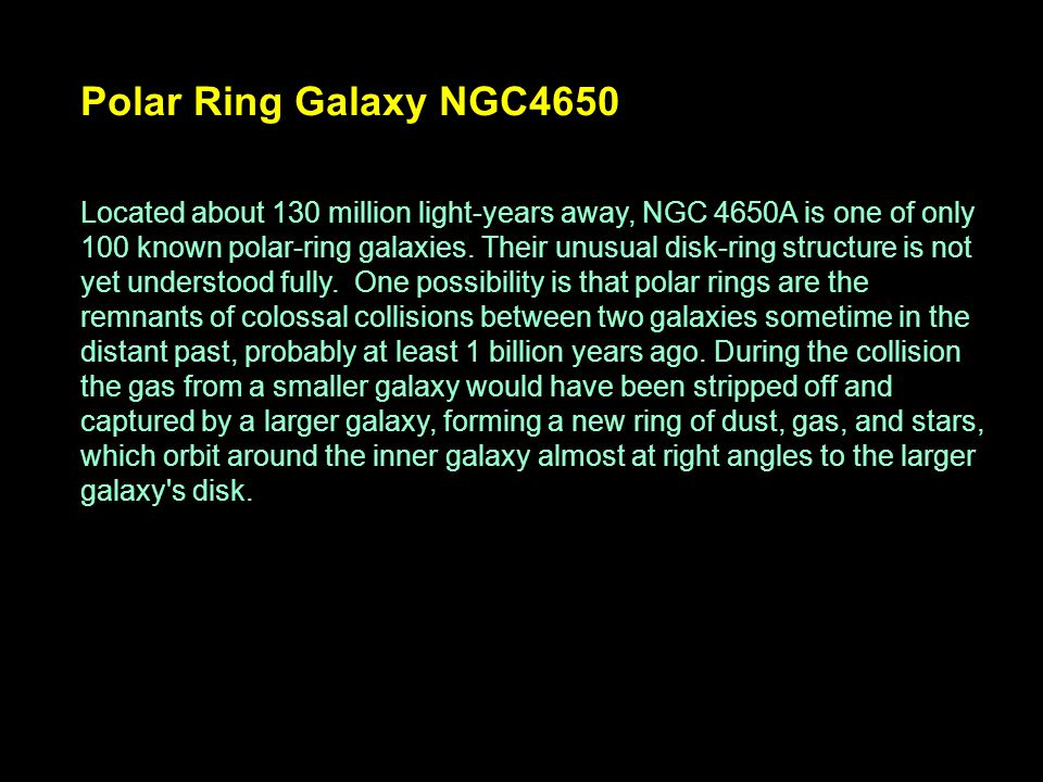 Polar Ring Galaxy NGC4650
