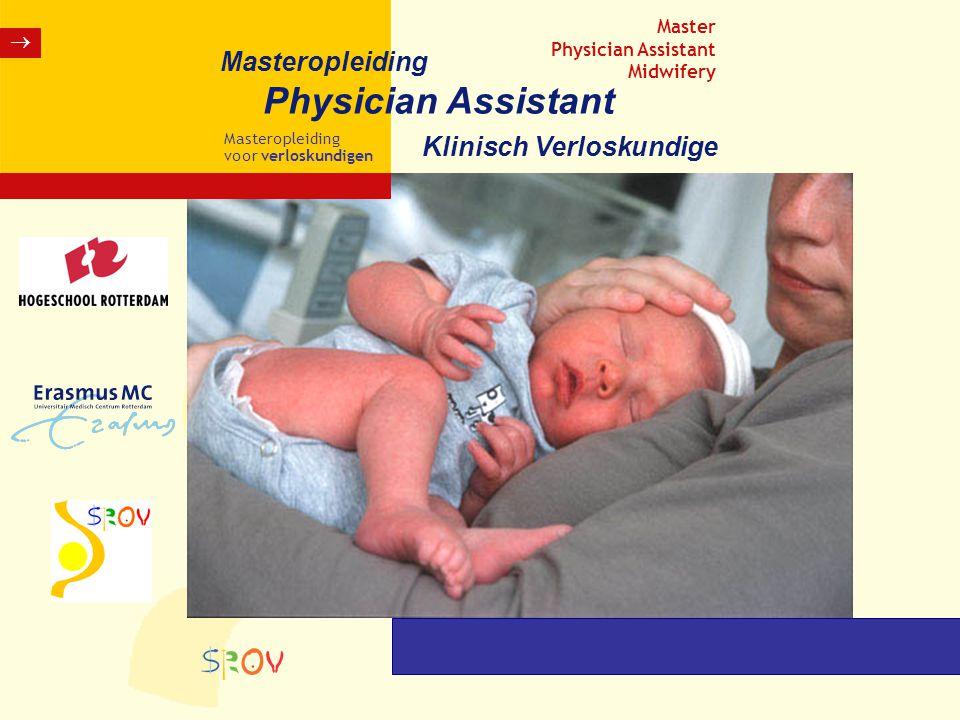 Physician Assistant Masteropleiding Klinisch Verloskundige  Master