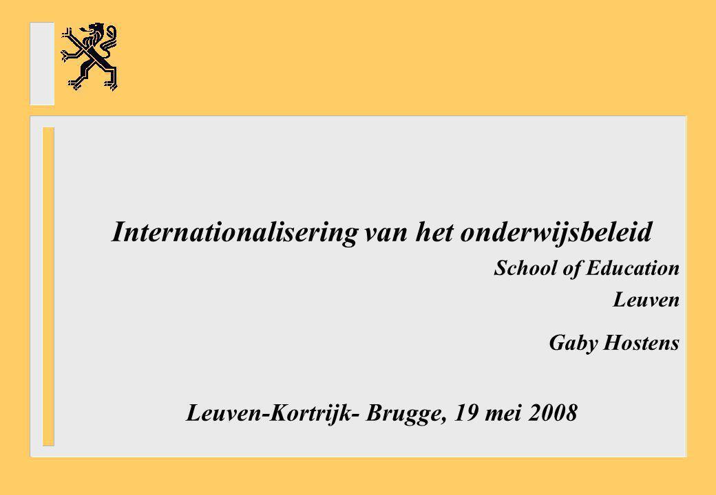 Internationalisering van het onderwijsbeleid
