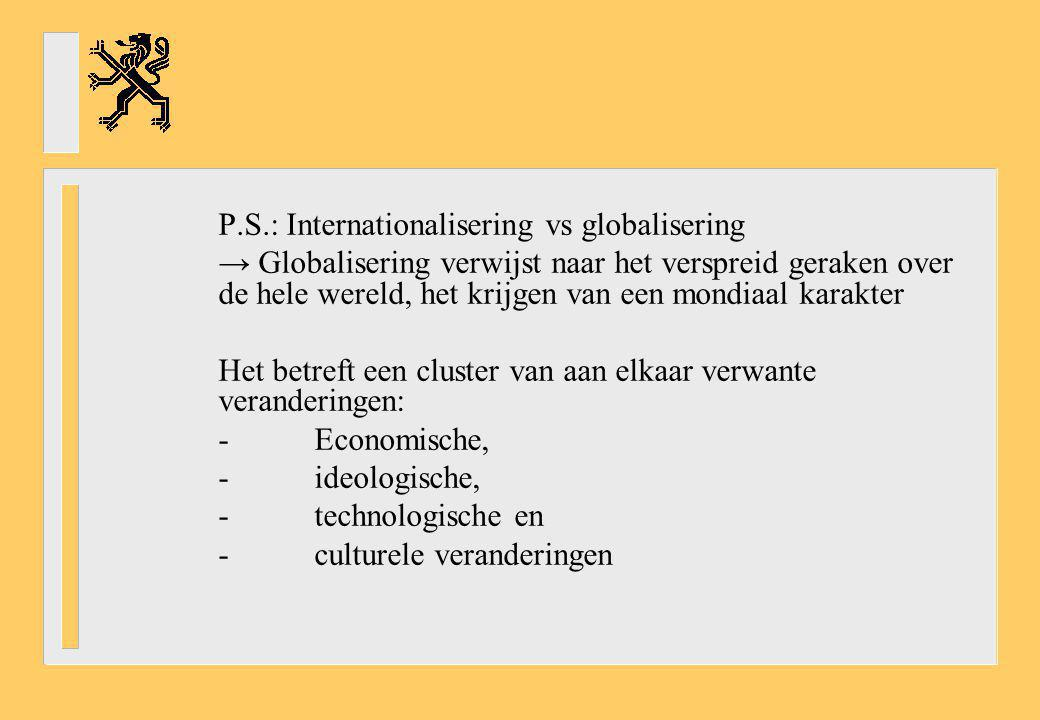 P.S.: Internationalisering vs globalisering