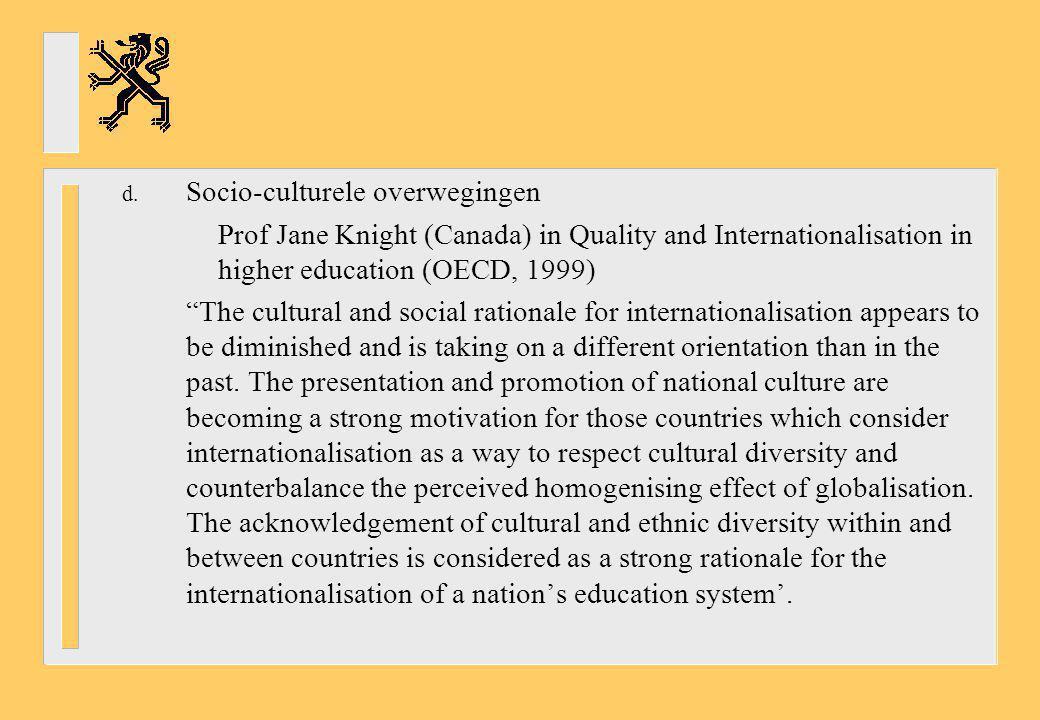 Socio-culturele overwegingen