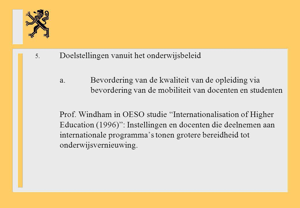 Doelstellingen vanuit het onderwijsbeleid