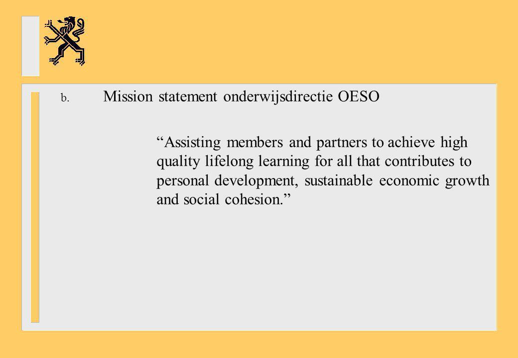 Mission statement onderwijsdirectie OESO